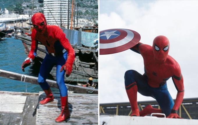 Spider-Man en 1977 et 2016