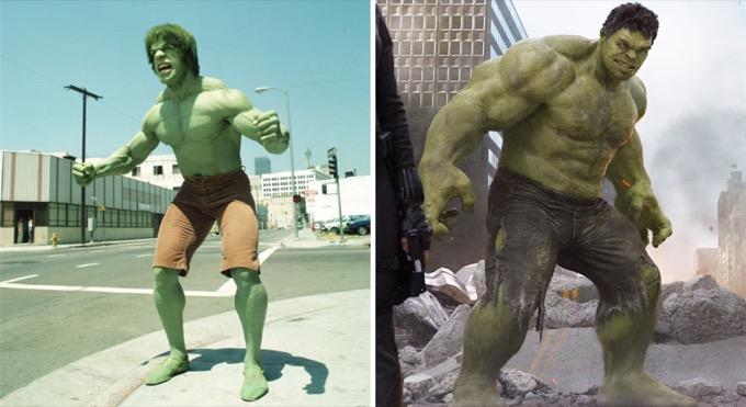 Hulk en 1978 et 2012