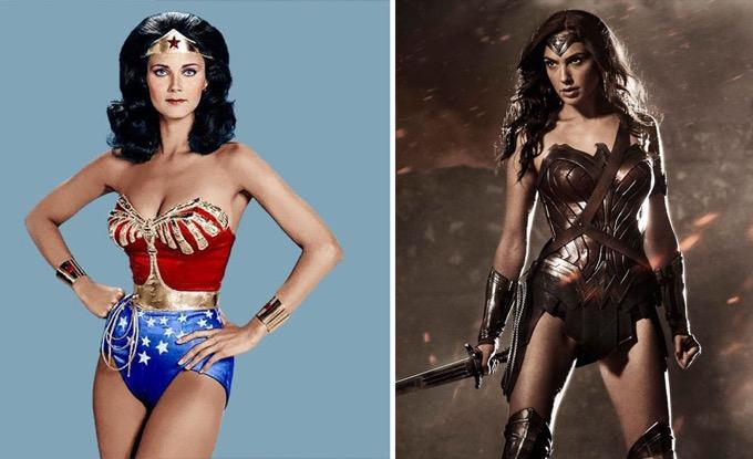 Wonder Woman en 1975 et 2016
