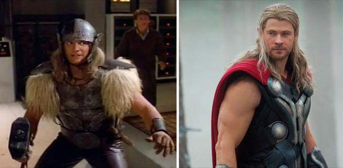 Thor en 1978 et 2015