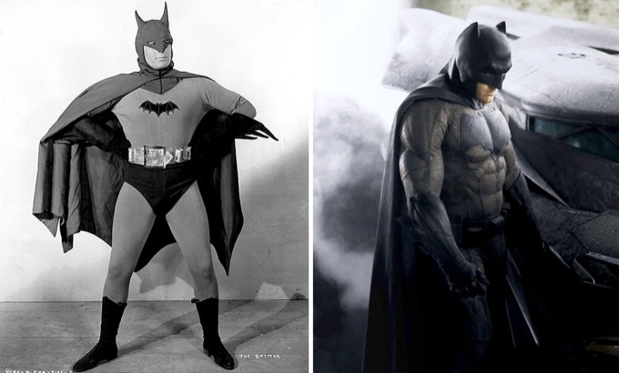Batman en 1943 et 2016