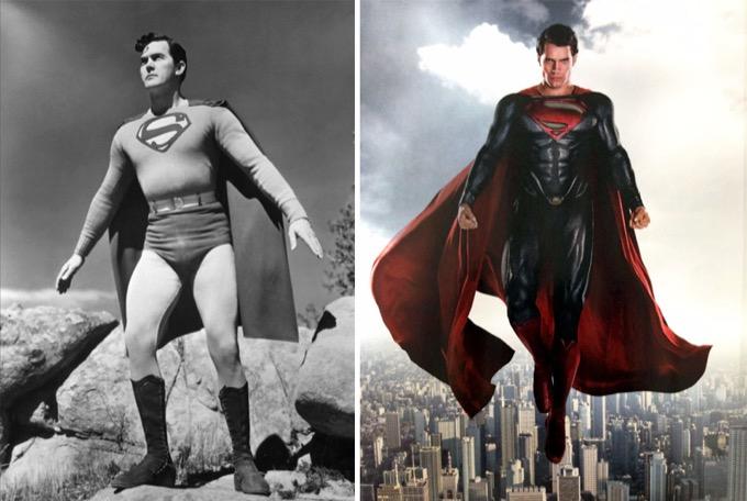 Superman en 1948 et 2016